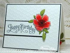 Stamping with Klass: Fabulous Florets for the Queen