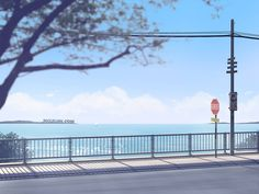 Seaside by mclelun on DeviantArt Episode Backgrounds, Anime Backgrounds Wallpapers, Anime Scenery Wallpaper, Scenery Background, Background Drawing, Cute Desktop Wallpaper, Animation Storyboard, Anime Places, Facebook Cover Images