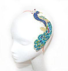 headpiece peacock