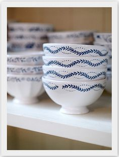 I love classic white with a touch of a pattern for whimsy