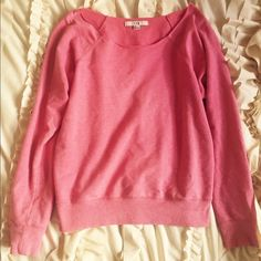 Forever 21 pink sweater Super cute sweater with a wide cut so that it shows some shoulder! Forever 21 Sweaters Crew & Scoop Necks