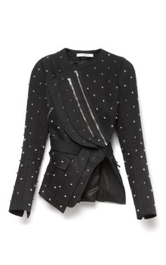 Shop Embellished Cotton Jacket With Back Pleats by Givenchy Now Available on Moda Operandi