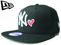 """【ニューエラ】【NEW ERA】9FIFTY キッズサイズ NEW YORK YANKEES """"NY"""" HEART ブラックXホワイトXストロベリーピンク【SNAPBACK】【スナップバック】【CAP】【newera】【帽子】【白】【KID'S SIZE】【子供用】【ハート】【黒】【ボーイズ】【ガールズ】【youth】【あす楽】【楽天市場】"""