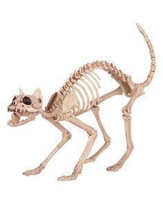 Skelett-Katze Halloween Dekofigur weiss 46x14x26cm - Artikelnummer: 885460000…