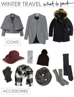 The packing essentials for traveling this winter.