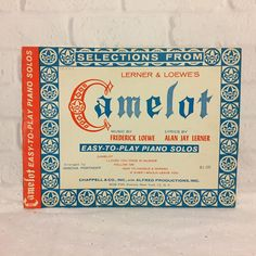 Selections From Camelot Easy To Play Piano Solos Sheet Music Book 1961 Vintage