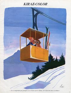 Edmond Kiraz 1971 Kiraz-color, Cable Railway, Skiing, Winter Sports