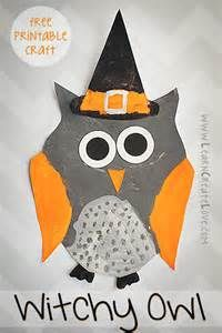 Witchy Owl Printable Craft