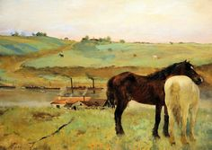Edgar Degas - Horses in the Meadow at National Gallery of Art Washington DC | Flickr - Photo Sharing!