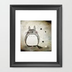 Totoro and friends Framed Art Print by Munieca - $33.00