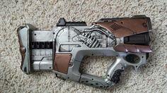 Rocket Raccoon gun made from a painted nerf gun