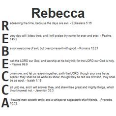 1000+ images about Rebecca on Pinterest | Names, Name ...