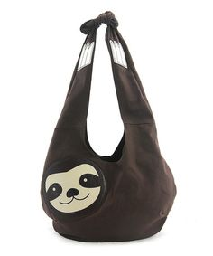 Look what I found on #zulily! Brown Sloth Canvas Hobo #zulilyfinds