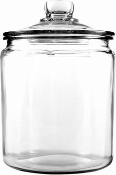 This Anchor Hocking® Half‐Gallon Glass Jar with Cover is perfect for accenting and organizing. The uses for this glass jar are endless, from storing soap in the bathroom to storing flour, sugar and cookies in the kitchen. Food Storage, Glass Storage Jars, Glass Jars With Lids, Glass Canisters, Kitchen Canisters, Jar Storage, Kitchenware, Storage Ideas, Storage Containers