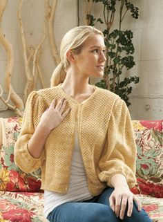 """Desert Jade Cardigan by Kalurah Hudson.  From the """"First Light"""" collection by Knit Picks. $19.99 for eBook download."""