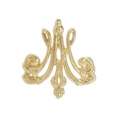 Marie-Antoinette Monogrammed Brooch (¥3,815) ❤ liked on Polyvore featuring jewelry, brooches, metal jewelry and monogram jewelry
