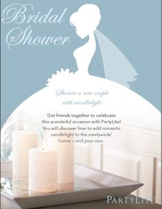 Host your Bridal Shower with partylite and earn all your decorations for your wedding! Partylite offers not only candles but also awesome acessories. Alot of which are CUSTOMIZABLE!