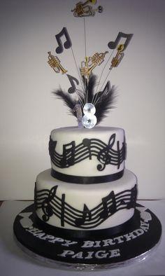 Music/trumpet theme cake