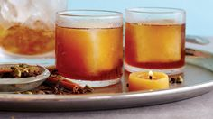 On the hunt for a healthier holiday cocktail? Whip up this orange-ginger Cozy Fire cocktail, a yummy drink made with better-for-you ingredients like fresh ginger, maple syrup, and coconut sugar that will set you back just 160 calories per glass.