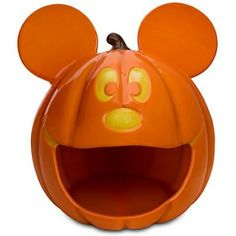 Let Mickey Mouse Jack-o-Lantern keep all your Halloween candy safe! DISNEY'S MICKEY MOUSE TRICK-OR-TREAT PUMPKING JACK-O-LANTERN BOWL