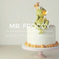 Liebe Geburtstagswünsche - wer könnte diese besser überbringen als Mr. Froggy? Mit dieser Anleitung zaubert ihr eine tolle Motivtorte ohne viel Aufwand!