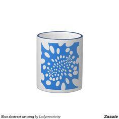 Blue abstract art mug