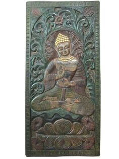 Buddha Dhrama Chakra Mudra Door Panel Hand Carved Wall Art Wood  #buddhapanel #doorpanel #indianpanel #antiquepanel #homedecor #wallpanel #decor #wallhanging #vintagedecoridea