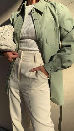 Retro Outfits, Cute Casual Outfits, Winter Outfits, Vintage Outfits, Green Outfits, Aesthetic Clothes, Ideias Fashion, Fashion Outfits, Instagram