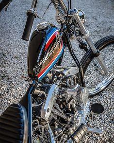 Bobber Bikes, Cool Motorcycles, Custom Bobber, Custom Harleys, Motor Harley Davidson Cycles, Harley Davidson Bikes, Chopper Motorcycle, Bobber Chopper, Old School Chopper