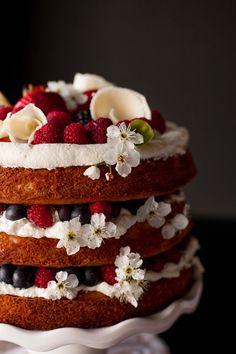 Vanilla Berries and Cream Cake