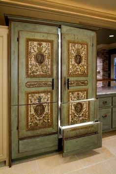 Would make it to sliding doors between living rooms instead. Love Indie/ornate design!!!!