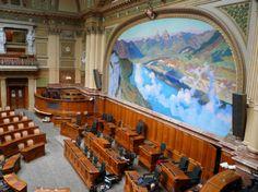 Main Floor. Swiss Parliament Building, Bern, Switzerland. (Electro-acoustic Design by WSDG)