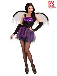 Dunkle Gothic Fee Halloween Damenkostüm lila-schwarz – Asia-Zone Asia-Fashion