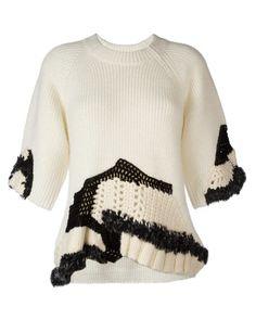 3.1 Phillip Lim | White Hand-crocheted Jumper | Lyst