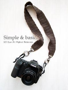 肌触りが優しい♪シンプルオシャレな一眼レフカメラ用ストラップ: カメラ女子「きょん♪」の簡単ステキ写真術