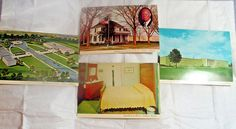 4 PRESIDENT DWIGHT D.EISENHOWER POSTCARD'S-IN ABILENE KANSAS HIS HOME & MUSEUM