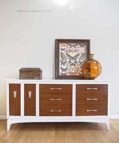 mid century modern, painted mid century furniture