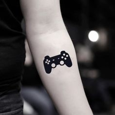 playstation tattoo Video Game Control Temporary Tattoo Sticker (Set of Gamer Tattoos, Tattoo Geek, 4 Tattoo, Gaming Tattoo, Leg Tattoos, Body Art Tattoos, Tattoos For Guys, Batman Tattoo, Book Tattoo