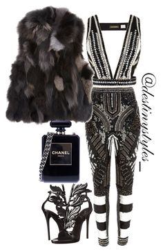"""""""Untitled #85"""" by iamdestinnny on Polyvore featuring River Island, sass & bide, Barneys New York, Giuseppe Zanotti, Chanel, women's clothing, women, female, woman and misses"""