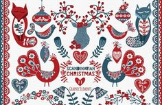 FREE this week: Scandinavian Christmas Pack by GraphikCliparts on @creativemarket #affiliate Free as of Dec 2