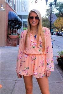 Yours Truly Romper in Floral; This romper is one of my favorites! I love the color and floral print....PERFECT for Spring!!!