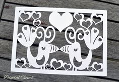 Love Bird Paper Cut SVG Cutting File For Cricut Design Space, And PDF Printable File, Instant Download, Small Commercial Use OK by DigitalGems on Etsy