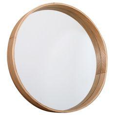 Klassische Spiegel spiegel rund aus holz d 60 cm andersen dekoration
