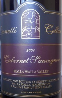 Leonetti Cellar 2008 Cabernet Sauvignon (Walla Walla Valley), $85 : 98 points