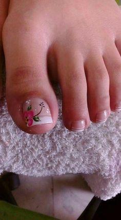 Pedicure Essentials and Designs Pretty Toe Nails, Cute Toe Nails, Pedicure Nail Art, Toe Nail Art, Hair And Nails, My Nails, Cruise Nails, Feet Nails, Toe Nail Designs