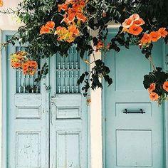 Greek Flower Door - Door J'adore