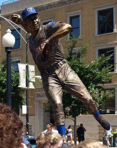 Ron Santo Statue, Wrigley Field. Chicago, Illinois.
