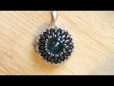Beaded earring tutorial: how to bezel a Rivoli using Superduo beads   Beading Tutorial - YouTube