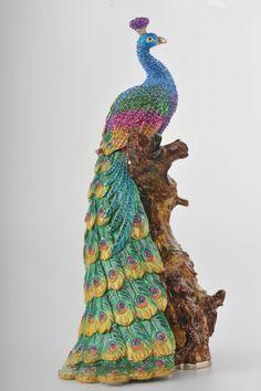 Peacock Trinket Box by Keren Kopal. For Vicki