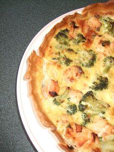 Tarte au saumon et aux brocolis quiches
